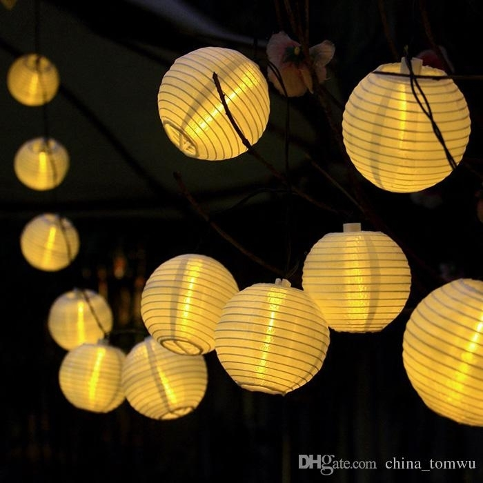 Inspiration about 20 Led Lantern Ball Solar String Lights Lanterns, Outdoor Garden For Outdoor Ball Lanterns (#5 of 15)