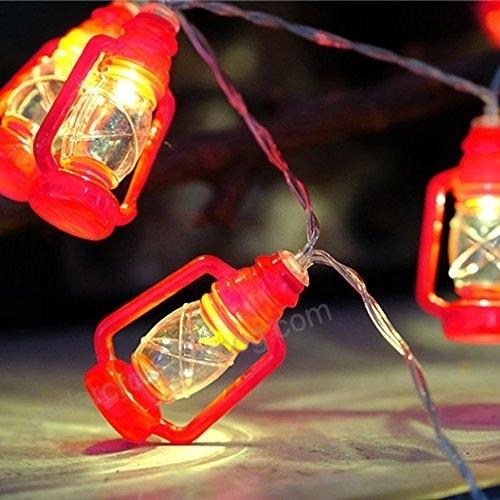 Inspiration about 20 Led Red Lantern Mini Kerosene String Lights For Patio Garden Throughout Decorative Outdoor Kerosene Lanterns (#14 of 15)