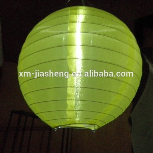 2015 Festival Lanterns Solar Outdoor Powered Chinese Nylon Fabric Within Outdoor Round Lanterns (View 6 of 15)