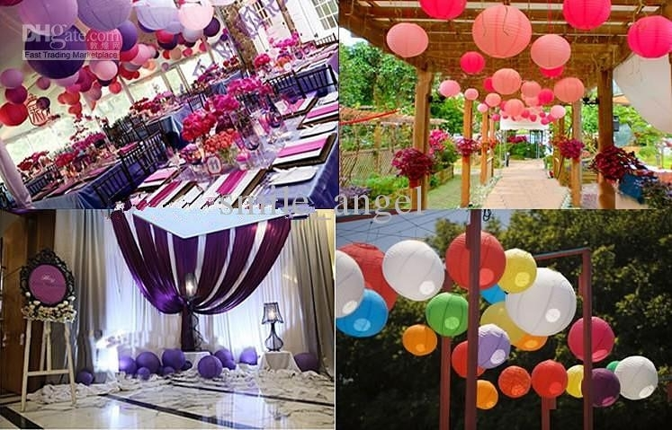 2018 Lantern Lights 20Cm 8Inch Chinese White Paper Lanterns Hanging With Regard To Outdoor Paper Lanterns For Patio (#1 of 15)
