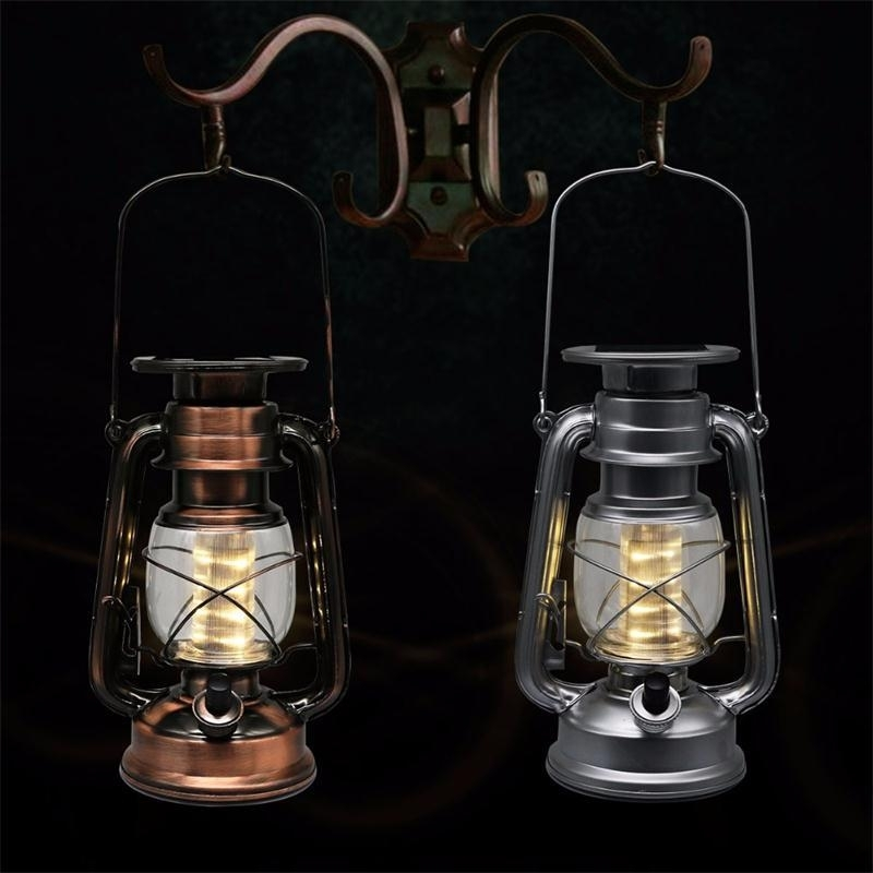 Inspiration about 2018 Led Porching Lighting Solar Lantern Vintage Solar Power Led Throughout Vintage Outdoor Lanterns (#1 of 15)