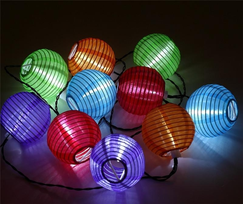 Inspiration about 2018 Outdoor Lantern Led Solar Lamp Multicolor Solar Chinese Lantern Pertaining To Outdoor Lanterns With Led Lights (#15 of 15)