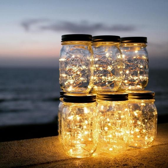 2018 Solar Powered Mason Jar Lights Mason Jar & Handle Included,10 With Outdoor Solar Lanterns (View 12 of 15)