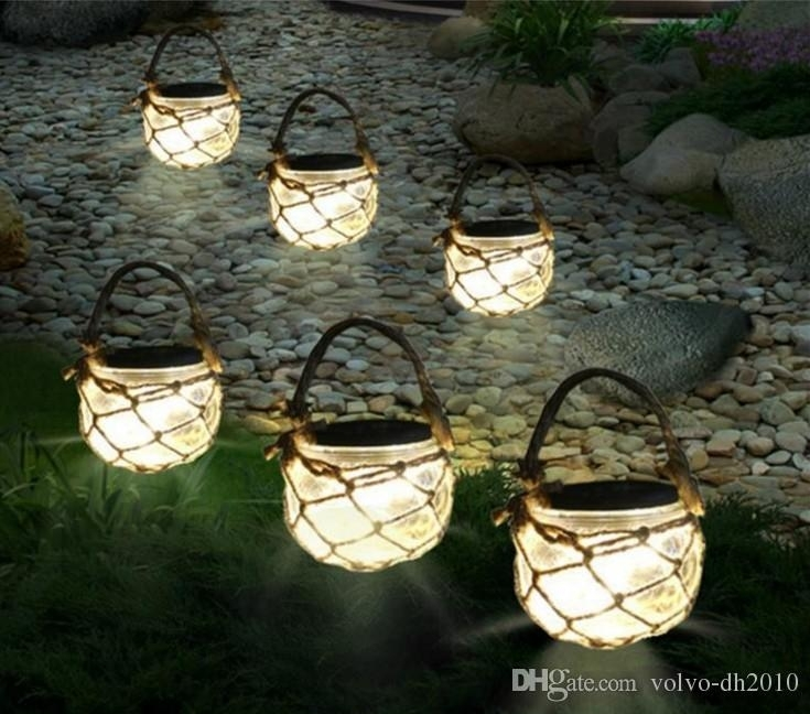 Inspiration about 2018 Solar Powered Outdoor Glass Garden Decking Lights Hanging In Outdoor Glass Lanterns (#2 of 15)