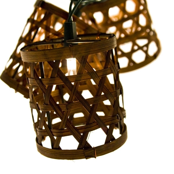Inspiration about 3.5M Length Of 15 Indoor And Outdoor Rattan Lantern Lights Green With Outdoor Rattan Lanterns (#4 of 15)
