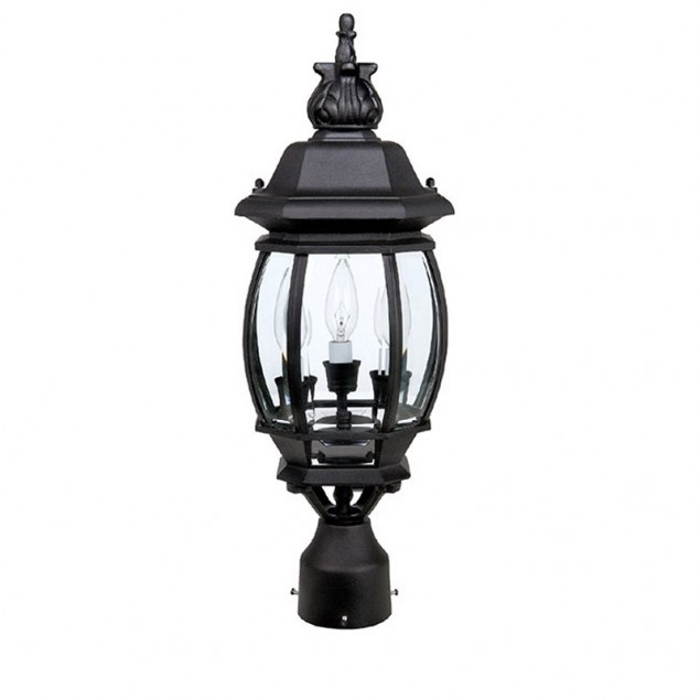 Inspiration about 3 Lamp Post Lantern | Capital Lighting Fixture Company In Outdoor Lanterns On Post (#8 of 15)