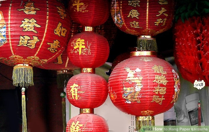 3 Ways To Hang Paper Lanterns – Wikihow Inside Outdoor Vietnamese Lanterns (View 15 of 15)