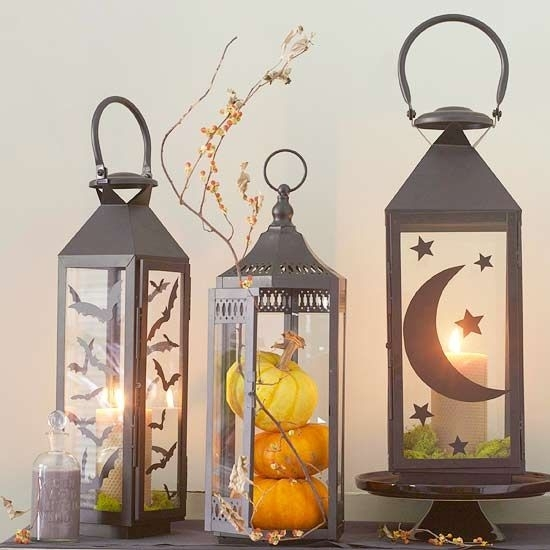 30+ Tips For Decorating Your Halloween Pumpkins | Silhouettes For Outdoor Vinyl Lanterns (View 3 of 15)