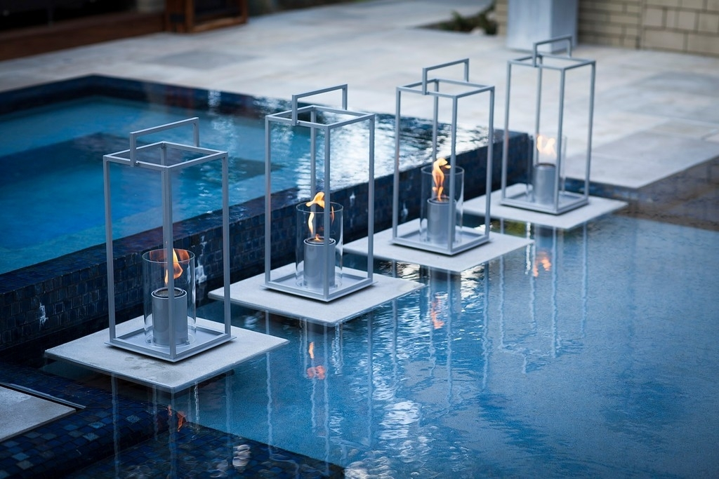 33 Clever Outdoor Pool Lanterns Decorative Lantern Glass Terraflame Intended For Outdoor Pool Lanterns (View 2 of 15)