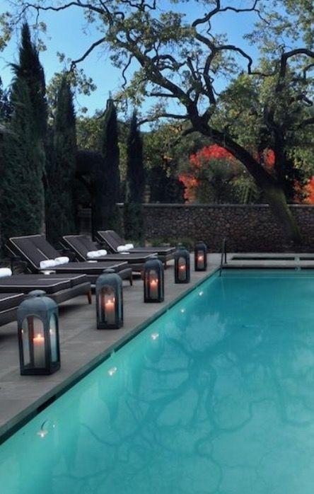 33 Wonderful Ideas Outdoor Pool Lanterns Lighting I Qtsi Co Swimming Regarding Outdoor Pool Lanterns (#4 of 15)