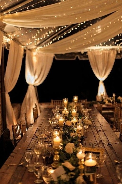 Inspiration about 38 Outdoor Wedding Lights Ideas You'll Love | Happywedd Pertaining To Outdoor Lanterns For Wedding (#12 of 15)