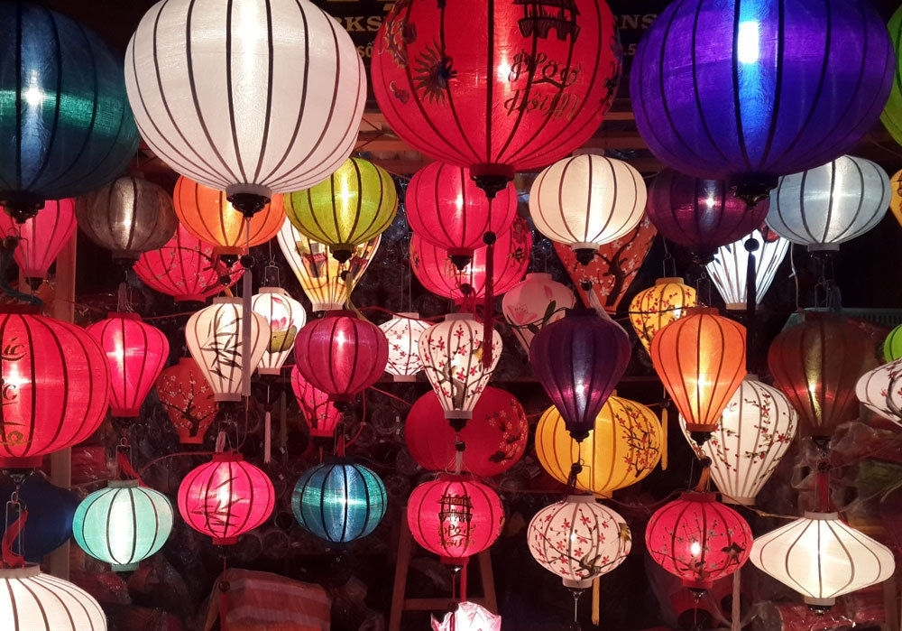 4 Handmade Vietnamese Hoi An Silk Lanterns Wedding Party Decor Home With Outdoor Vietnamese Lanterns (View 3 of 15)