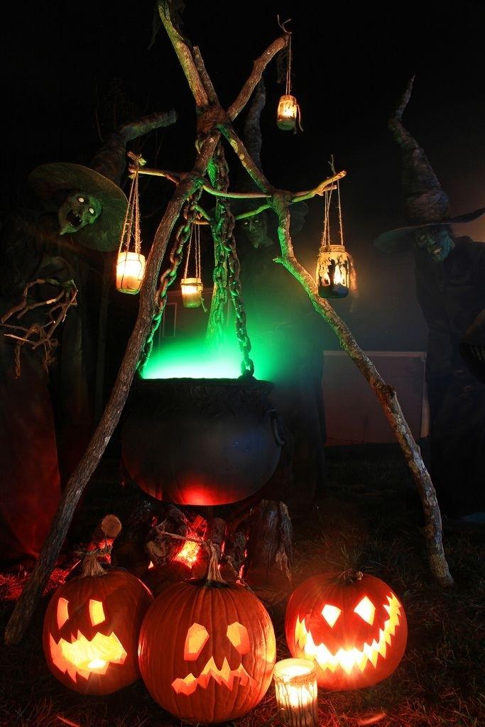 Inspiration about 48 Creepy Outdoor Halloween Decoration Ideas | Crafts | Pinterest Within Outdoor Halloween Lanterns (#5 of 15)