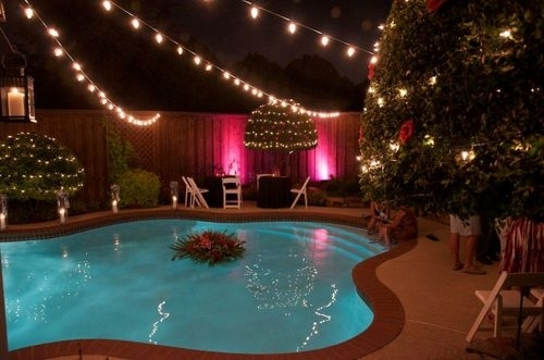 Inspiration about 5 Reasons String Lights Over Your Swimming Pool Are A Bad Idea Throughout Outdoor Lanterns For Poolside (#3 of 15)