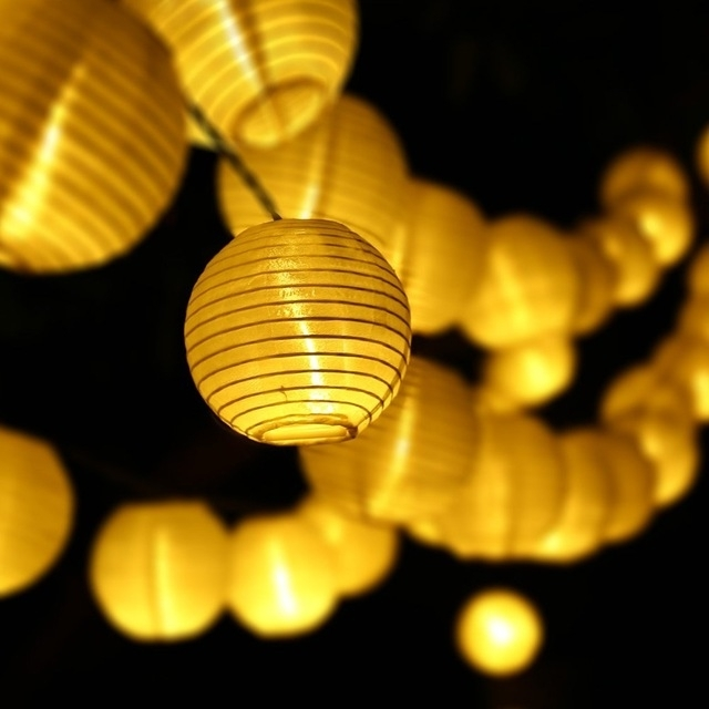 Inspiration about 6m 30 Led Outdoor Lighting Lantern Ball Solar String Lights Fairy Throughout Outdoor Ball Lanterns (#2 of 15)