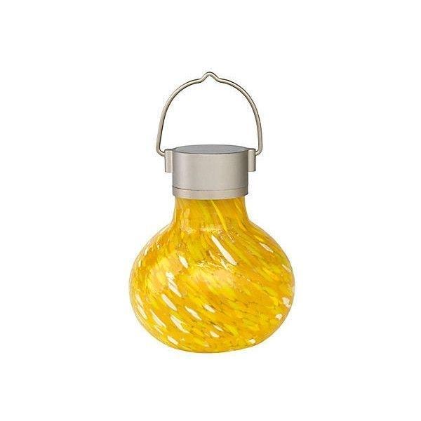 "7"" Solar Tea Lanterns Saffron Set Of 2 Outdoor Lanterns ($36 Inside Yellow Outdoor Lanterns (#3 of 15)"