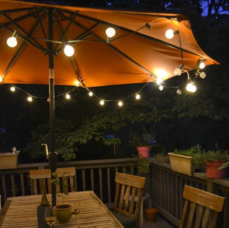 8 Summer Small Patio Ideas For You | Home & Garden | Pinterest Inside Outdoor Umbrella Lanterns (View 2 of 15)