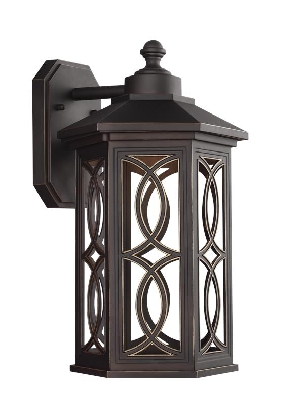 8617097s 71,large Led Outdoor Wall Lantern,antique Bronze In Rust Proof Outdoor Lanterns (View 13 of 15)