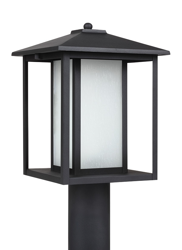 89129 12,one Light Outdoor Post Lantern,black Within Outdoor Post Lanterns (View 15 of 15)