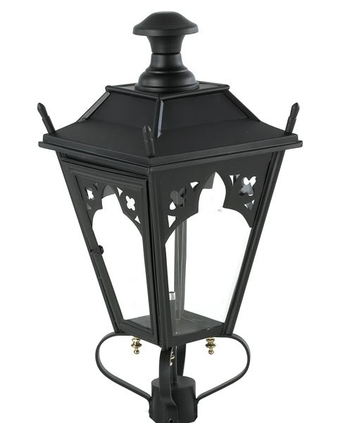 Antique Black Gothic Garden Outdoor Lantern With Door In Antique Outdoor Lanterns (#2 of 15)