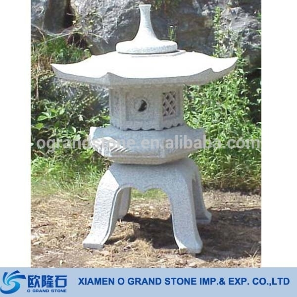 Antique Granite Chinese Stone Outdoor Japanese Lanterns – Buy For Outdoor Japanese Lanterns For Sale (View 2 of 15)