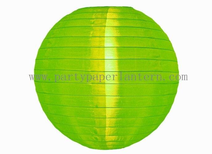 Apple Green Round Nylon Lantern For Party , Outdoor Decoration Throughout Outdoor Round Lanterns (View 15 of 15)
