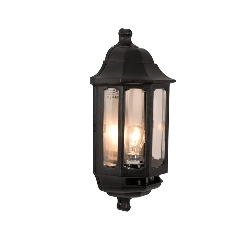 Asd Coach Half Lantern Outdoor Wall Light With Dusk To Dawn Sensor In Outdoor Wall Lanterns (View 2 of 15)