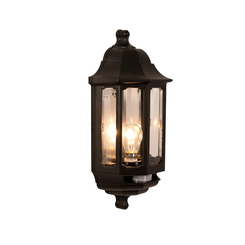 Asd Coach Half Lantern Outdoor Wall Light With Pir Sensor – Lighting With Regard To Outdoor Pir Lanterns (#2 of 15)