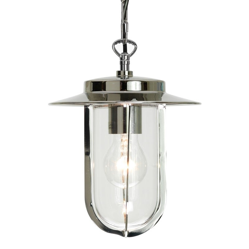 Astro Montparnasse Pendant Porch Lantern – Polished Nickel Pertaining To Outdoor Porch Lanterns (#2 of 15)