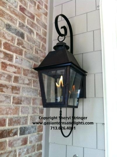 Attractive Outdoor Gas Lanterns On Wall Sconces Lamps Lighting Inside Outdoor Gas Lanterns (View 4 of 15)