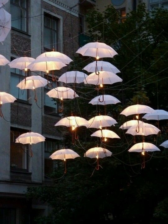 Awesome Outdoor Umbrella Lights!!! Omg! I Want! | Lighting/lights Regarding Outdoor Umbrella Lanterns (View 7 of 15)