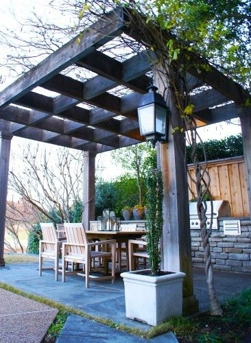 Backyard Gazebo; Could Hang All Different Kinds Of Lights Or Inside Outdoor Gazebo Lanterns (View 2 of 15)