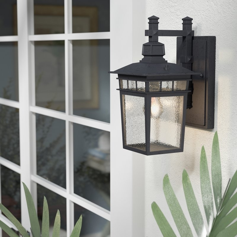 Beachcrest Home Valeri 1 Light Outdoor Wall Lantern & Reviews | Wayfair In Outdoor Vinyl Lanterns (View 14 of 15)