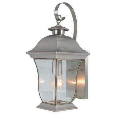 Bel Air Lighting – Brushed Nickel – Outdoor Lanterns & Sconces Intended For Home Depot Outdoor Lanterns (View 8 of 15)