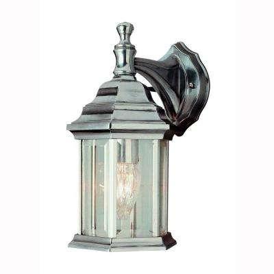 Bel Air Lighting – Brushed Nickel – Outdoor Wall Mounted Lighting With Regard To Nickel Outdoor Lanterns (View 6 of 15)