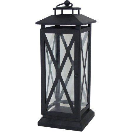 Better Homes And Gardens Crossbar Metal Outdoor Lantern – Walmart In Walmart Outdoor Lanterns (View 2 of 15)