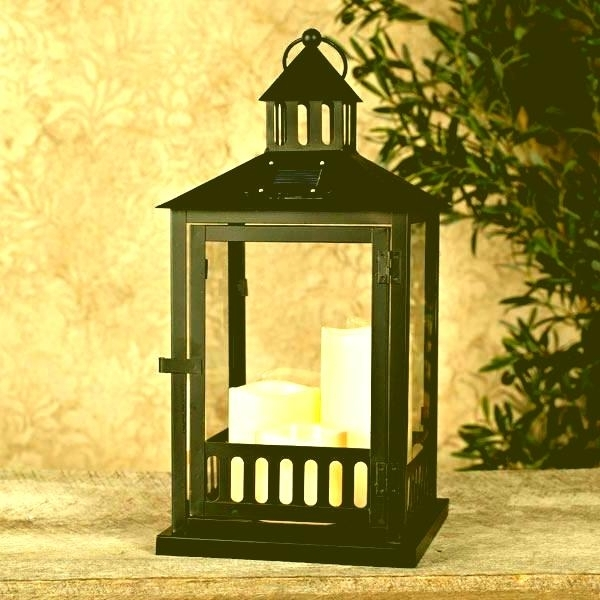 Big Floor Lanterns Large Lamp Post Fancy Decorative Solar Lantern Pertaining To Large Outdoor Rustic Lanterns (View 8 of 15)
