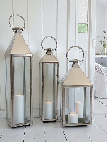 Big Stainless Steel Lanterns | Wall, Home, Colour, Aaaah | Pinterest Within Outdoor Metal Lanterns For Candles (View 8 of 15)