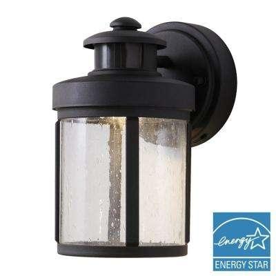 Black – Hampton Bay – Integrated Led – Outdoor Lanterns & Sconces Within Led Outdoor Lanterns (View 8 of 15)