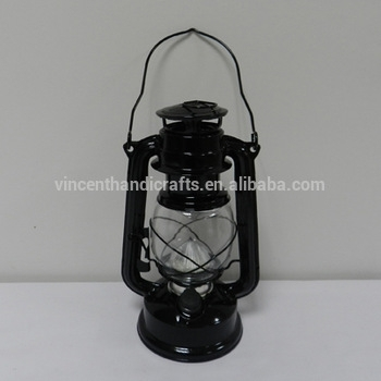 Black Hurricane Lantern With Led Light For Garden Decorative – Buy With Regard To Decorative Outdoor Kerosene Lanterns (View 9 of 15)
