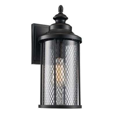Black – Industrial – Outdoor Lanterns – Outdoor Wall Mounted Within Industrial Outdoor Lanterns (View 8 of 15)