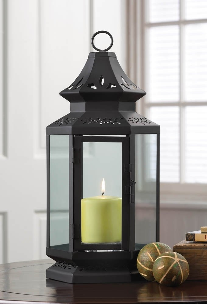 Inspiration about Black Lantern Candle Holder, Stagecoach Large Candle Lanterns Metal Throughout Outdoor Metal Lanterns For Candles (#4 of 15)