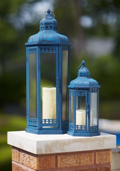 Popular Photo of Blue Outdoor Lanterns