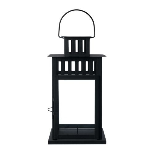 Borrby Lantern For Block Candle, Black Indoor/outdoor Black | Ikea With Ikea Outdoor Lanterns (#5 of 15)
