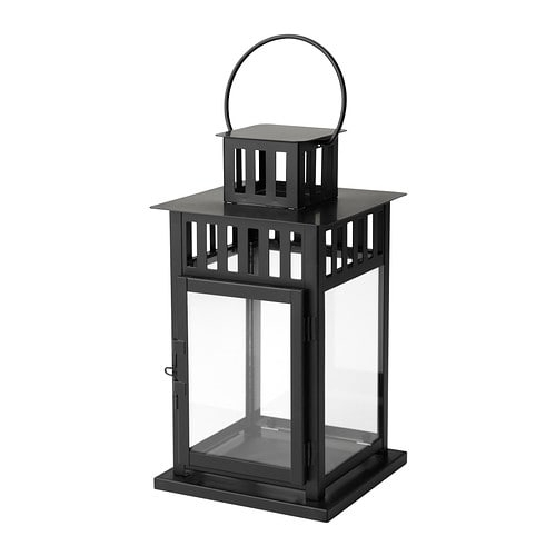Borrby Lantern For Block Candle – Ikea Pertaining To Ikea Outdoor Lanterns (#1 of 15)