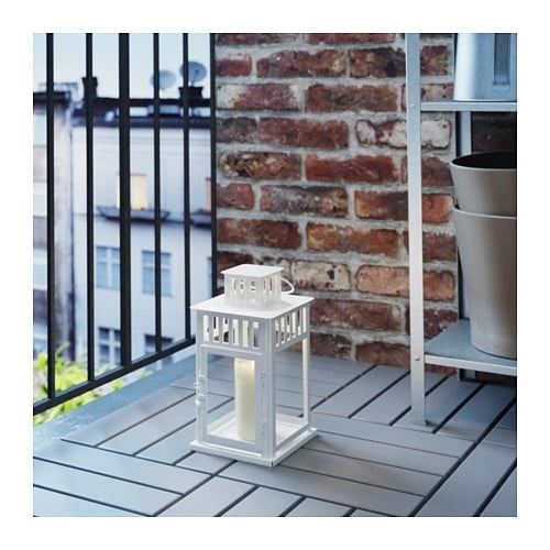 Borrby Lantern For Block Candle In/outdoor White 28 Cm – Ikea Pertaining To Ikea Outdoor Lanterns (#3 of 15)