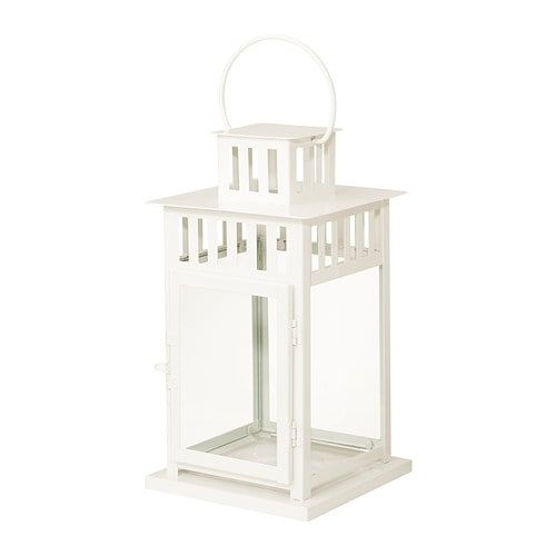 Borrby Lantern For Block Candle In/outdoor White 28 Cm – Ikea Regarding Ikea Outdoor Lanterns (#4 of 15)