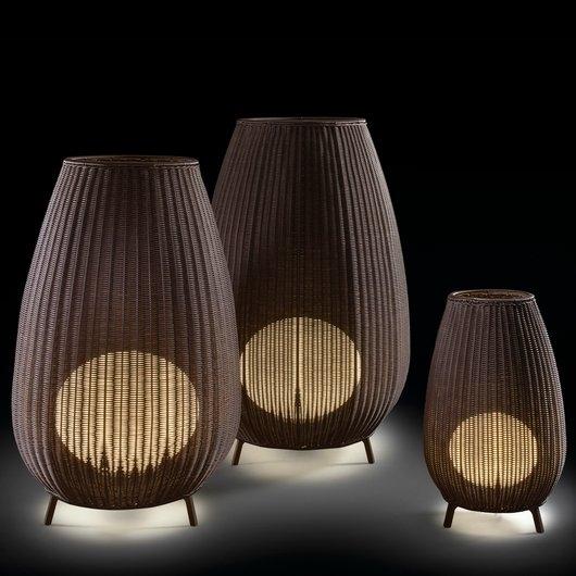 Bover  Bover Amphora Exterior Floor Lamp|Exterior Table & Floor In Outdoor Rattan Lanterns (#2 of 15)