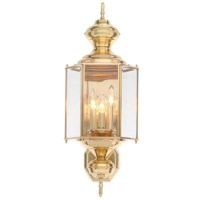 Brass & Gold – Outdoor Lanterns & Sconces – Outdoor Wall Mounted Inside Brass Outdoor Lanterns (#2 of 15)