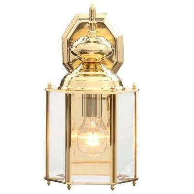 Brass & Gold – Progress Lighting – Outdoor Wall Mounted Lighting For Brass Outdoor Lanterns (#5 of 15)